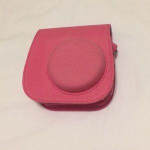 Pink polaroid case